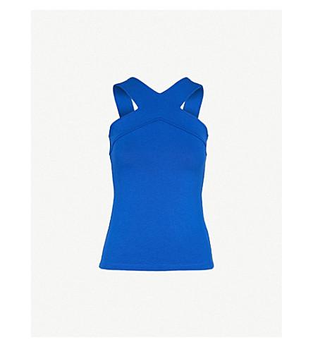 KAREN MILLEN Halterneck jersey top (Blue