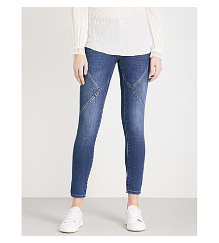 KAREN MILLEN Sport seam denim leggings (Blue