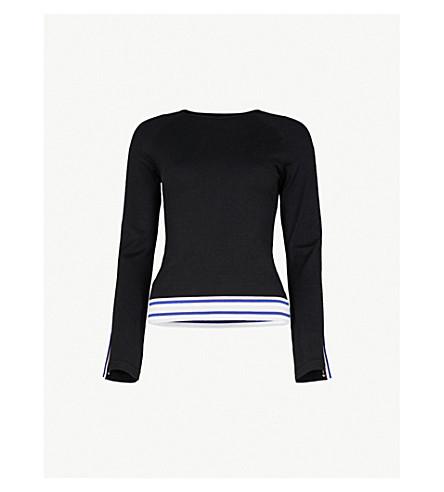 KAREN MILLEN Striped knitted jumper (Multi-coloured