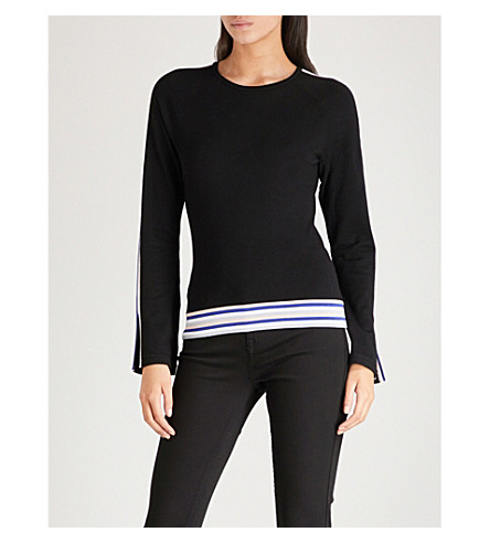 KAREN MILLEN Striped knitted jumper (Multi-coloured
