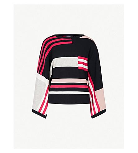 KAREN MILLEN Aurora kimono stretch-knit jumper (Grey