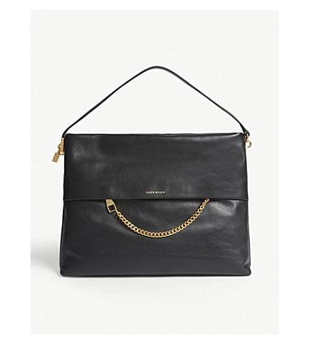 KAREN MILLEN Leather shoulder bag (Black