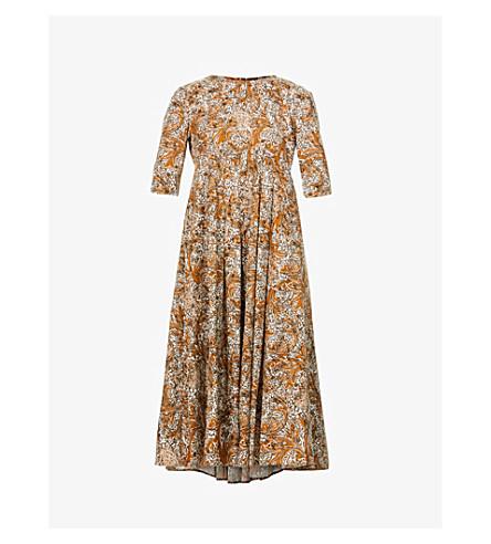 KAREN MILLEN Contrast-trim pointelle-knit jumper (Cream
