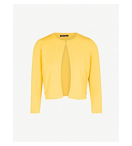 KAREN MILLEN Cropped knitted cardigan (Yellow