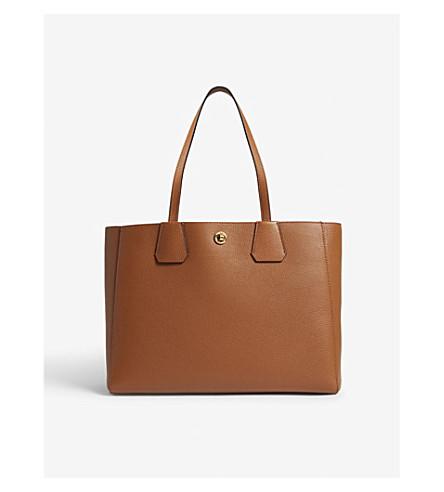 KAREN MILLEN East West leather tote bag (Tan