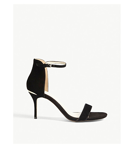 KAREN MILLEN Suede heeled sandals (Black