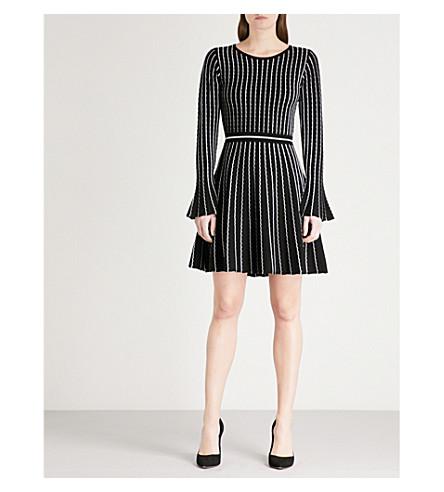 KAREN MILLEN Striped knitted dress (Multi-coloured