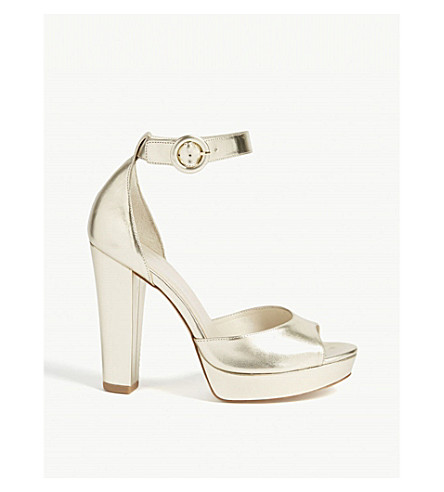 KAREN MILLEN FC004 metallic platform sandals (Gold