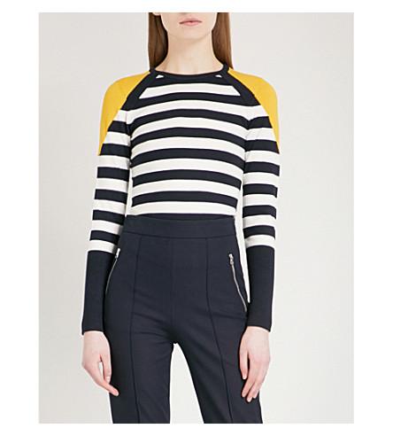 KAREN MILLEN Striped knitted jumper (Grey