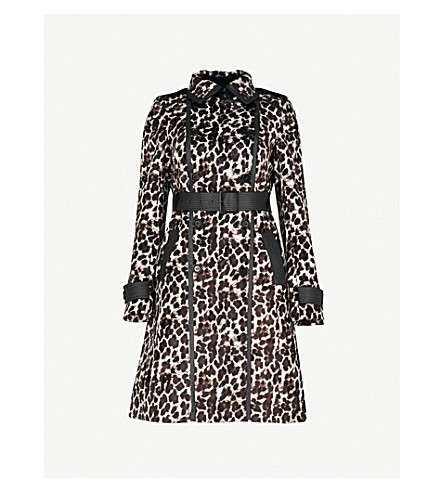 KAREN MILLEN Leopard faux-fur coat (Multi-coloured