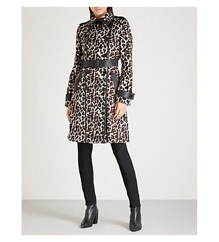 KAREN MILLEN Leopard faux-fur coat (Multi-coloured