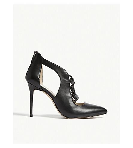 KAREN MILLEN FC020 leather heeled sandals (Black