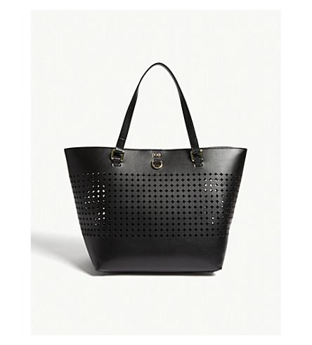 KAREN MILLEN Perforated large tote bag (Black