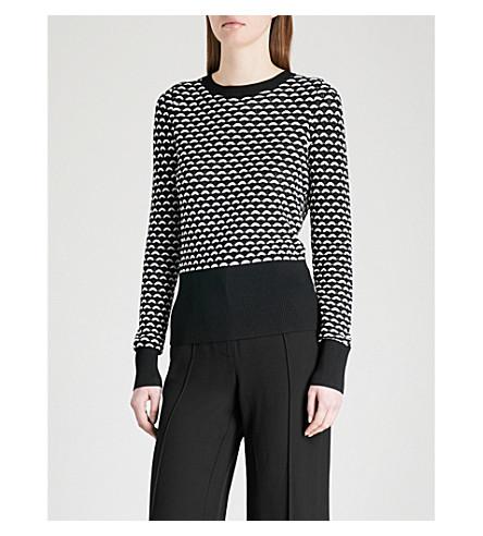 KAREN MILLEN Monochrome knitted jumper (Multi-coloured