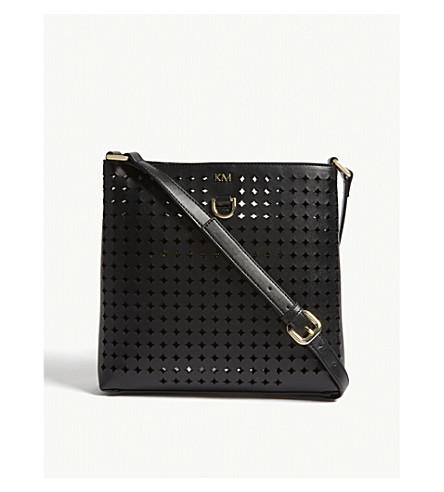 KAREN MILLEN Perforated cross-body bag (Black