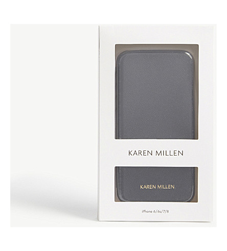KAREN MILLEN Folio iPhone 6/6S/7/8 case (Black