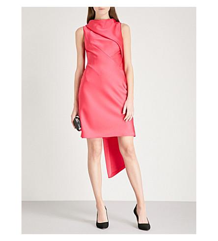 KAREN MILLEN Asymmetric satin mini dress (Pink