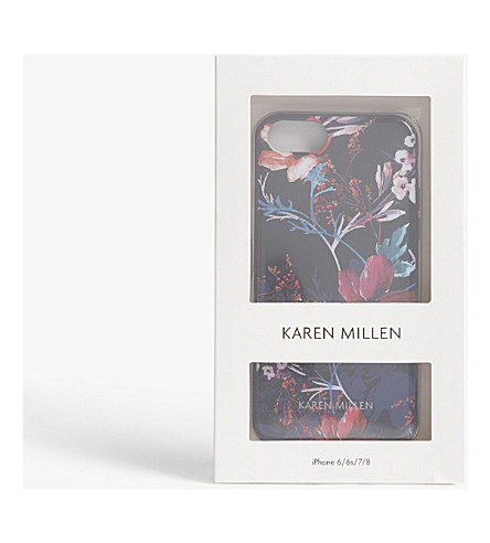 KAREN MILLEN Floral print iPhone case (Multi-coloured