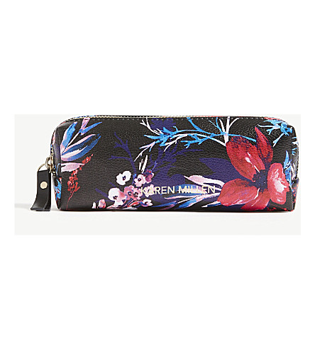 KAREN MILLEN Floral cosmetics bag (Multi-coloured