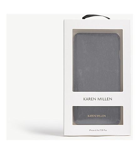 KAREN MILLEN Folio iPhone 6 Plus/6S Plus/7 Plus/8 Plus case (Black