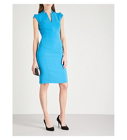 KAREN MILLEN Tailored crepe pencil dress (Blue