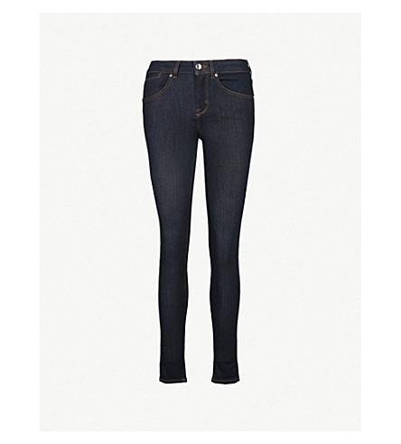 KAREN MILLEN Skinny high-rise jeans (Navy