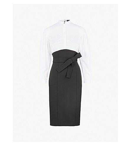 KAREN MILLEN Corset stretch-cotton dress (Monochrome