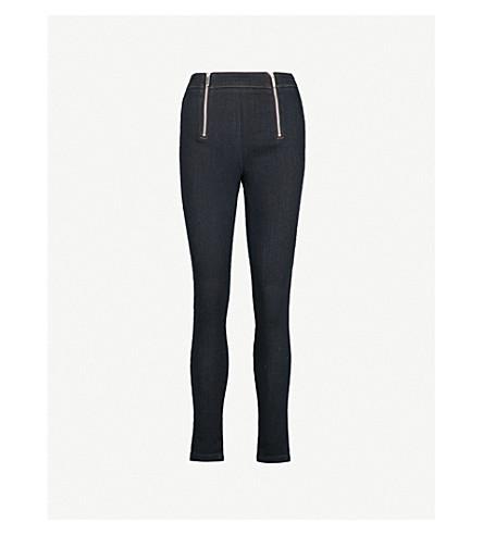 KAREN MILLEN Skinny high-rise stretch-denim leggings (Navy