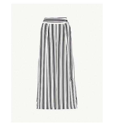 KAREN MILLEN 条纹休闲版型绉裤子 (单色