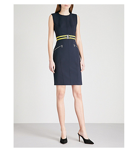 Fitted Fitted dress MILLEN Blue MILLEN crepe crepe MILLEN Fitted dress KAREN crepe Blue KAREN KAREN qgxZZCEw