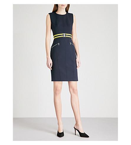 KAREN MILLEN Fitted crepe dress (Blue