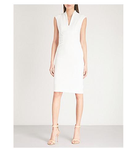 KAREN MILLEN V-neck woven dress (Cream