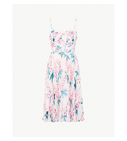 KAREN MILLEN Floral-print chiffon dress (Multi-coloured