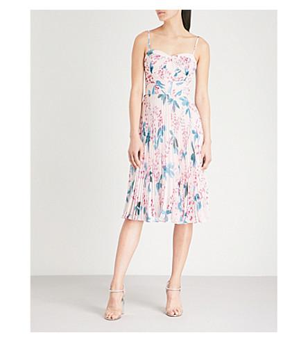 KAREN MILLEN Floral-print chiffon dress (Multi-coloured