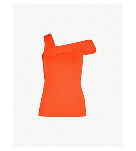 KAREN MILLEN外肩球衣顶部 (明亮 + 橙色