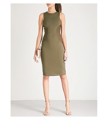 paneles MILLEN Caqui oliva Vestido ajustado verde de KAREN con qcEE7fwaZ
