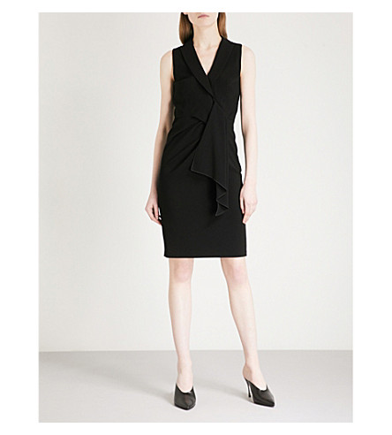 KAREN MILLEN Draped crepe dress (Black