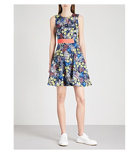 KAREN MILLEN Floral-print cotton dress (Grey