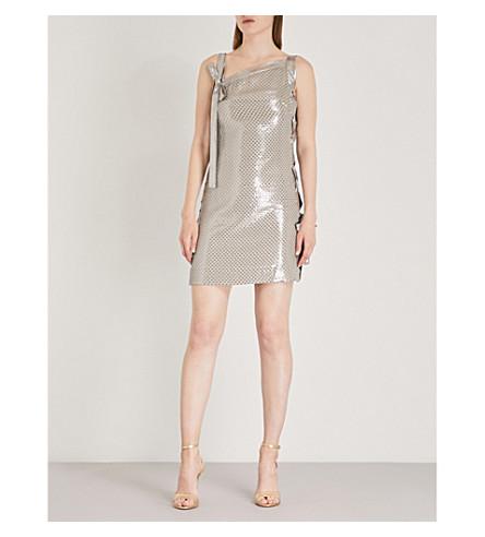 KAREN MILLEN Sequinned one-shoulder dress