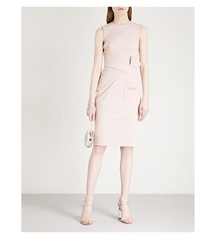 KAREN MILLEN Bow-detail woven dress (Pale+pink