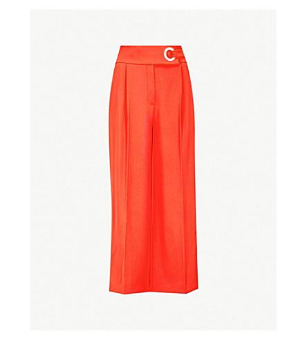KAREN MILLEN Wide-leg crepe culotte trousers (Red