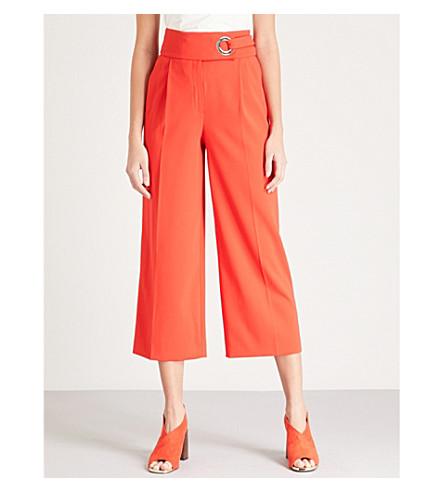 KAREN MILLEN宽腿绉 culotte 长裤 (红色