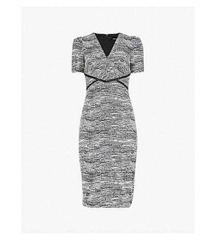 KAREN MILLEN Moon-print woven dress (Grey