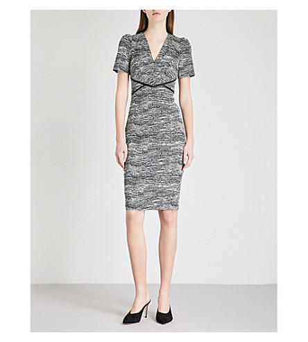 KAREN MILLEN Moon-print woven dress (Grey