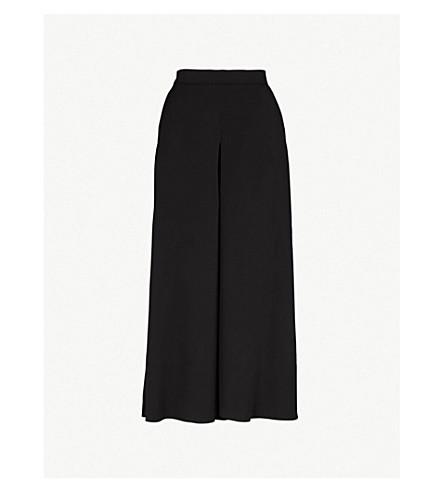 KAREN MILLEN High-rise crepe trousers (Black