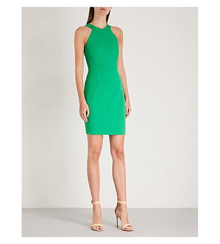 KAREN MILLEN Stitch-detail crepe dress (Green