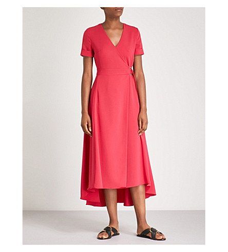Wrap crepe dress