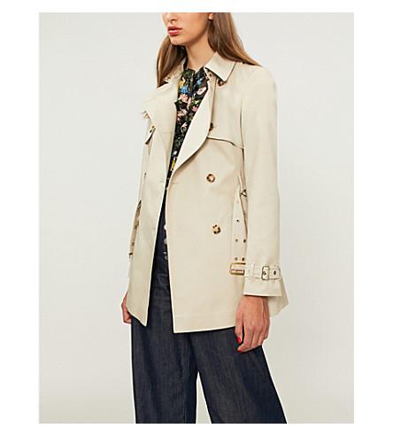 KAREN MILLEN Karen Millen stretch-cotton coat (Cream