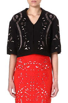 KAREN MILLEN Embroidered and cutwork jacket