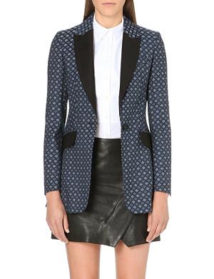 KAREN MILLEN Long line tuxedo jacket